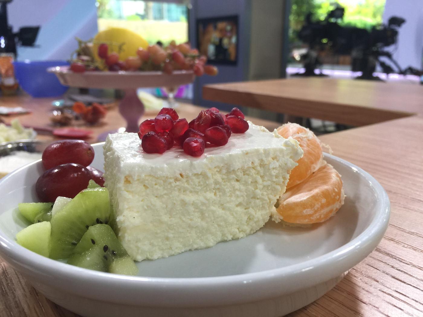 עוגת גבינה עשירה ללא קמח ודלת סוכר